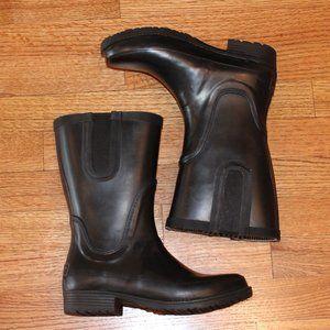 LL Bean Black Wellie Rain Boots